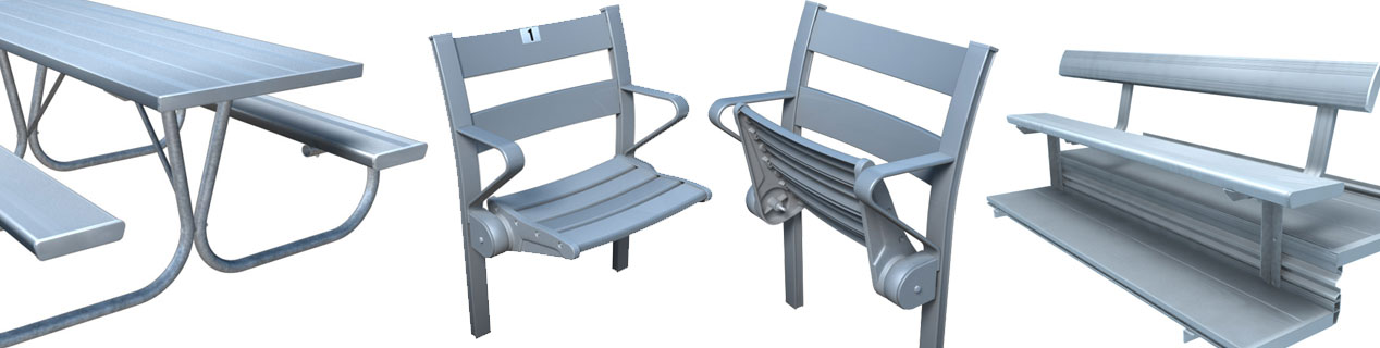 3D Modeling of Aluminium Seating