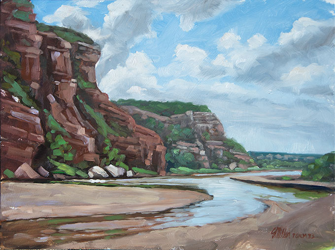 Plein Air oil on panel, Pease River area of Texas - Titled Heaven & Earth