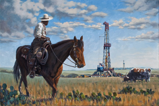 Open Range, oil on canvas