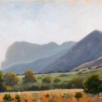 Texas' El Capitan Plein air oil on panel