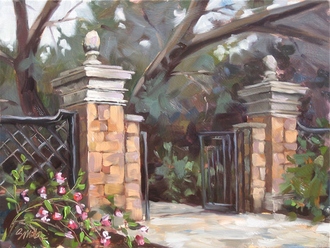 The Gate, oil on panel