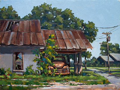 Forty-Nine, plein air oil on panel painted on location in Italy, Texas