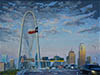 South Wind, Oil on panel of Dallas, Texas