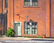 Plein air painting called The Empty Pot